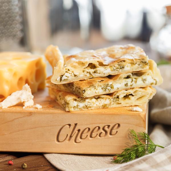 Пирог с творогом и зеленью «Хачапури»